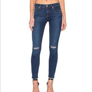7 FAM The Ankle Skinny Distressed Jeans